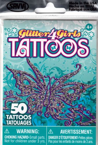 Glitter Girls Temporary Tattoos